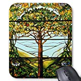 Mauspad/Mauspad, rutschfest, rund, für Computer/Laptop, 20 x 24 cm, Motiv Obstbaum und Hügel, 2...