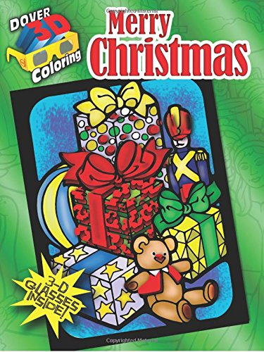 Merry Christmas (Dover 3d Coloring) (Dover 3-d Coloring Book)