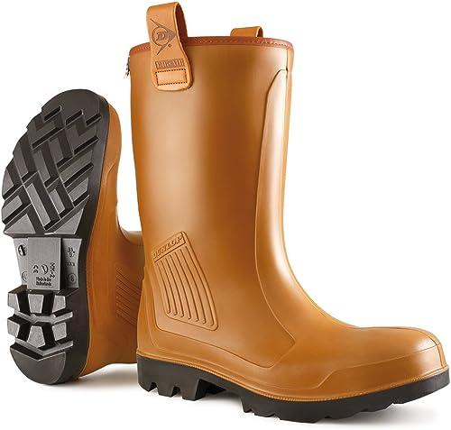 Dunlop C462743FL C462743FL S5 RIGAIR GEV.LRS, Bottes de sécurité Adulte Mixte - Marron - marron (marron (Bruin) 05), 41  en bonne santé