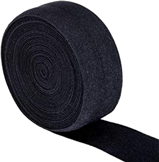 Ninepeak Fold-Over Elastic, 5 Yard (Black, 1-Inch)