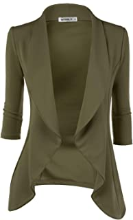97bd3560b0f Doublju Womens Lightweight Classic Draped Open Front Blazer with Plus Size