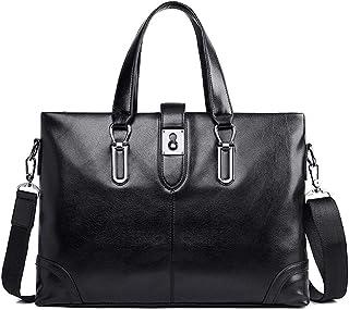 Men's Business Briefcase Handbag Shoulder Bag Black