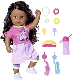 Baby Born 831663 Big Sister Doll 43cm-6 Lifelike Functions, Curly Hair-Easy for Small Hands, Creative Play Promotes Empath...