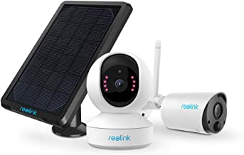 REOLINK Wireless Security Camera System Bundle: 1080P Soalr Battery Powered Outdoor Security Camera, 3MP HD Indoor WiFi Ca...
