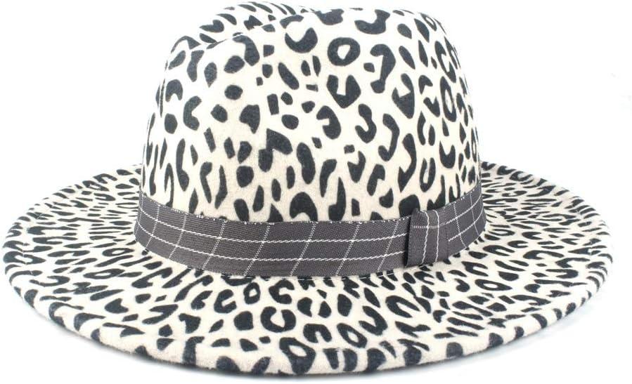 no-branded Top Hat Men's Hat Fedora Retro Women Wool Polyester Fedora Hat Flat Top Lattice Ribbon Jazz Hat Church Cap ZRZZUS (Color : White, Size : 56-58cm)