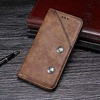 Ulefone X Case, Genuine Quality Business Retro Style Flip PU Leather Wallet Case Cover for Ulefone X (Color : Brown)