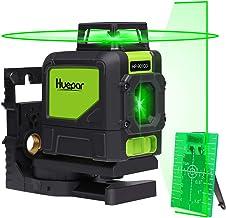 Huepar Nivel Láser 360, Nivel Laser Verde 40m con MODO DE PULSO, Autonivelante Líneas Cruzadas con 360 Grados Líneas Vertical y 130 Grados Horizontale, con Base Giratoria Magnética, 901CG