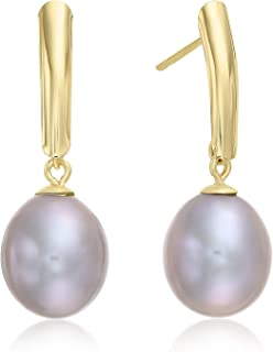14k Yellow Gold Freshwater Cultured Drop Pearl Earring