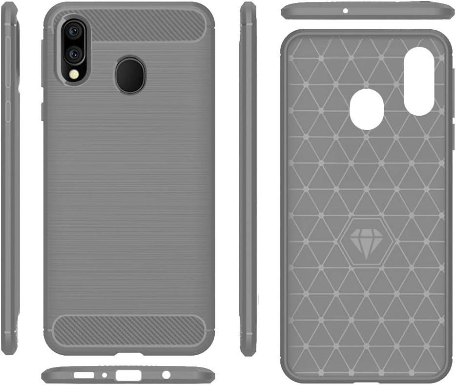 Samsung A20 case,Galaxy A20 Case,Galaxy A30 Case,MAIKEZI Soft TPU Slim Fashion Anti-Fingerprint Non-Slip Protective Phone Case Cover for Samsung Galaxy A20/A30(Gray Brushed TPU)