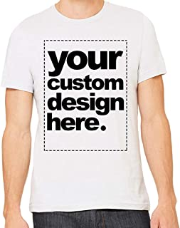 Custom T-Shirt Men's Fitted Ringspun Cotton Personalize with Text Or Photo
