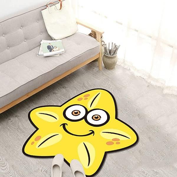 吉帆儿童卡通游戏垫女孩房间装饰地毯宝宝爬行垫家用水晶绒防滑地毯儿童地毯带动物供游戏室幼儿园幼儿园托儿所