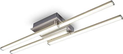 B.K.Licht I LED plafondlamp I zwenkbaar I 4-flame I moderne plafondlamp I incl. 20W I 1600lm I LED bord I warm wit licht k...
