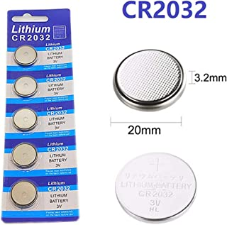 Cotchear 5pcs/Pack CR2032 Button Batteries BR2032 DL2032 ECR2032 Cell Coin Lithium Battery 3V CR 2032 for Watch