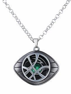 Lureme Doctor Strange Necklace Eye of Agamotto Costume Prop Stone Pendant (nl005390)
