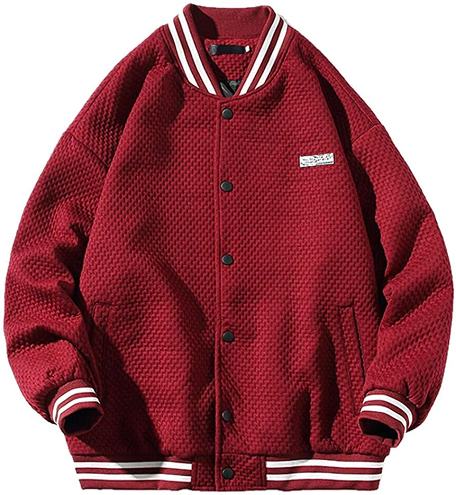 Retro Embroidered Baseball Jacket Men's High material Jack Thin safety Corduroy Loose