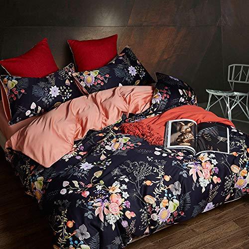 yaonuli Branch Satin Long-Staple Cotton Four-Piece Cotton Sheet Quilt Cover 1.8m Double Cotton Overflow 1.5m Sheets