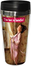 Tree-Free Greetings SG25866 Avanti Humor Too Hot to Handle Sip 'N Go Stainless Steel Lined Travel Tumbler, 16-Ounce, Multicolored