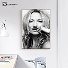 Auntwhale Kate Moss Silk Poster Painting, Suitable for Living Room Coffee Shop Office Home Decor