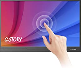 G-STORY 15.6 Inch Ultrathin Touchscreen, FHD 1080P IPS Portable Monitor, NS Direct-Connected/Mini HDMI/Built-in Speakers/HDR/FreeSync/Type-C/60Hz/250cd/m2