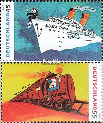 Prophila Collection BRD (BR.Deutschland) 2803-2804 (kompl.Ausg.) 2010 Gemälde von UDO Lindenberg (Briefmarken für Sammler) Eisenbahn