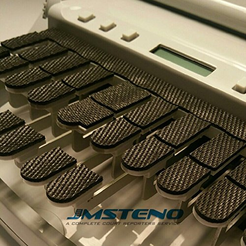 Stenowriter Textured Rubber Keytop Covers for All Stenograph, Infinity, ProCAT,Baron & Xscribe Writers for Comfort, Noise Reduction and Added Stability for Fingers by JM Steno.