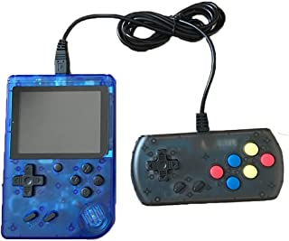 360 Retro Games Handheld Game Console, 2 Players, Classic Game Console, 3 Inch Screen USB Charger Supports TV, FC System Plus Extra Joystick Mini Controller, Gifts for Kids Children.(Blue)