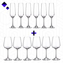 Combo Offer! Buy Set of 6 White Wine Glasses & Set of 6 Champagne Glasses from Wild Magma