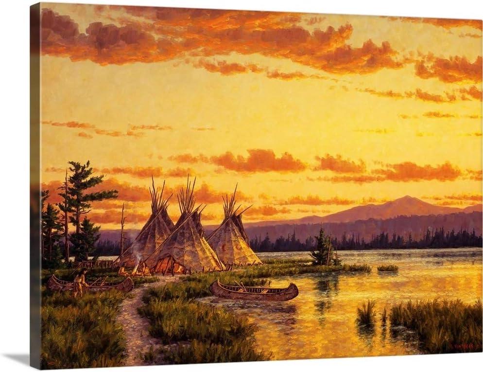 Northern Blackfoot Max 54% OFF Hunters Camp Canvas San Jose Mall Art Print Country Wall