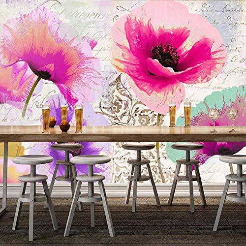 Papel Pintado Pared Flores Amapolas Marca