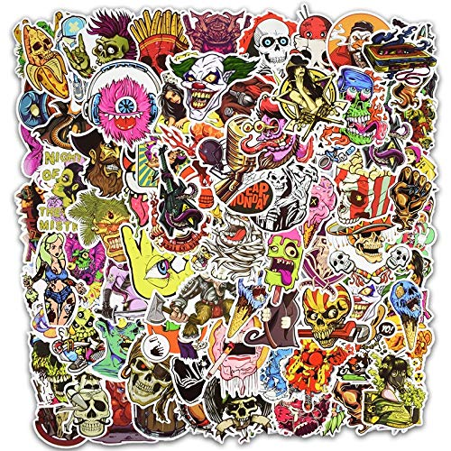 TUHAO Horror Cool Stickers For Skateboard Motorcycle Car Styling Laptop Fridge Luggage Bicycle Graffiti Pvc Waterproof Sticker 100 Pcs