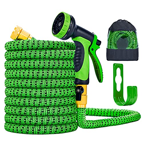 Expandable Garden Hose 50FT Water Hose with 10 Function Nozzle and...