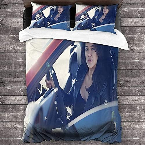 YRHAIR F-as-t & F-ur-io-us - Juego de funda de edredón Vin Diesel, ropa de cama, funda de almohada de otoño, suave y cómoda (Furious2,135 x 200 cm + 50 x 75 cm x 2)