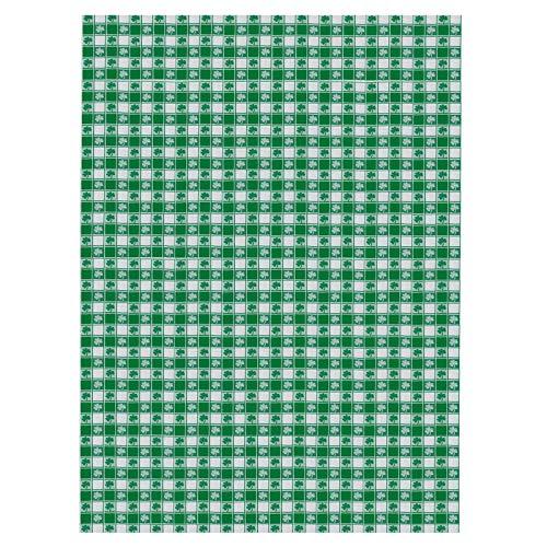 Moent Mantel para el día de San Patricio, diseño irlandés de trébol verde de la suerte, para decoración de mesa de comedor de 152 x 200 cm (verde)