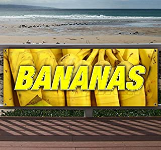 Bananas 13 oz Heavy Duty Vinyl Banner Sign with Metal Grommets, New, Store, Advertising, Flag, (Many Sizes Available)