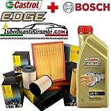 Kit tagliando olio CASTROL EDGE 5W40 5LT+4 FILTRI BOSCH (1457429192 OPPURE F026407023, F026402068, F026400157, 1987432369)