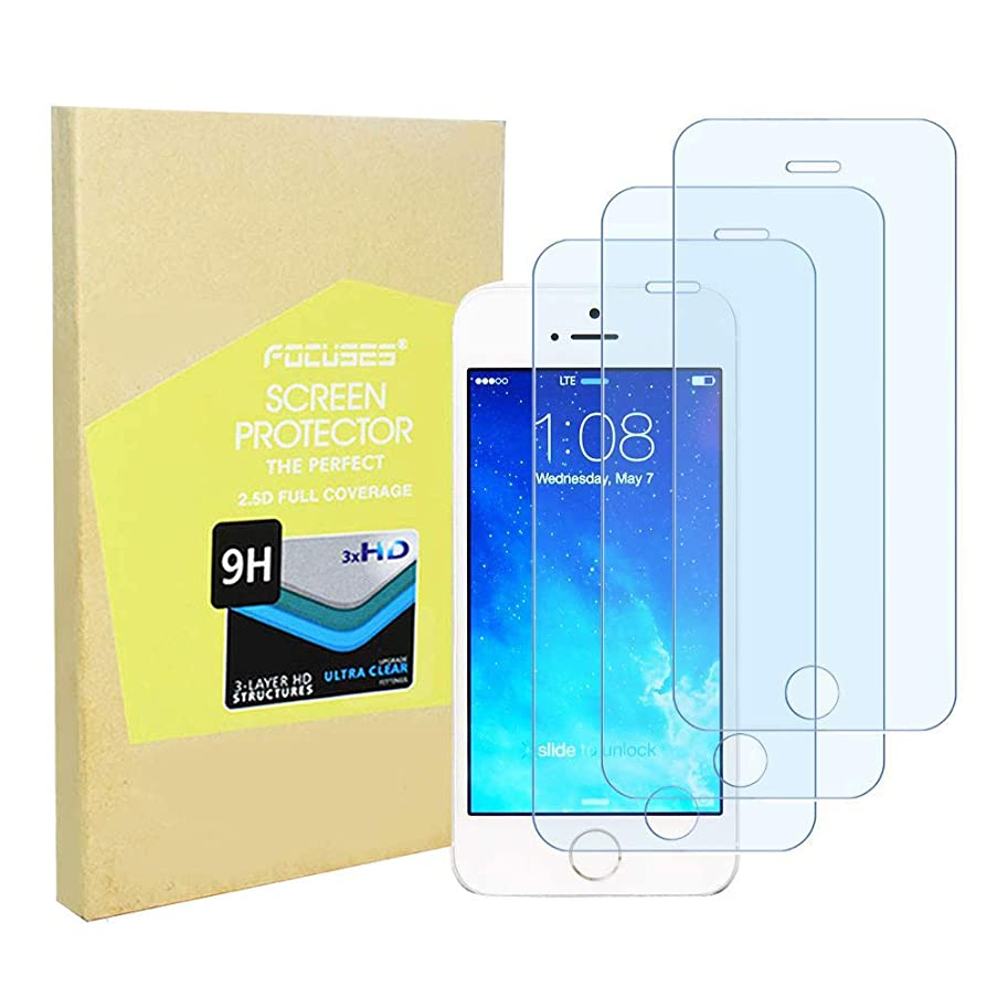 Screen Protector Japan Tempered Glass iPhone 5s 5c 5 se[Anti Blue Light] Anti-Glare Screen Film Shield Cover Saver iPhone 5s/5c/5/se[3pack] 2.5d Round Edge/Full Coverage/Case Friendly/Focuses