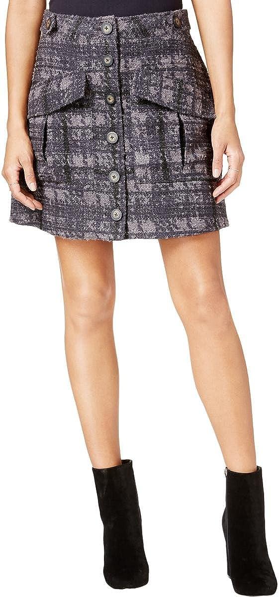 RACHEL Rachel Roy Women's Printed Button-Front Utility Skirt