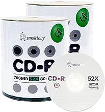 Smartbuy 700mb/80min 52x CD-R Logo Top Blank Data Recordable Media Disc (200 Disc)