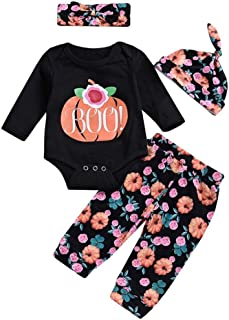 Lucoo Winter Outfits Set,4PCS Infant Baby Girls Letter Romper+Leg Warmers+Headband+Shorts Outfit Set
