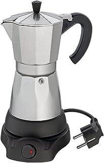 Cilio 273700 Classico - Cafetera eléctrica (6 Tazas), diseño de cafetera Italiana, Color Plateado y Negro