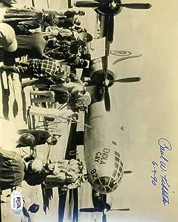 Paul Tibbets Cert Hand Signed 8x10 Photo Enola Gay Pilot Autograph - PSA/DNA Certified