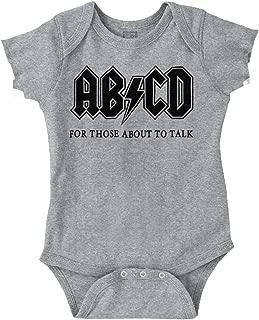 Brisco Brands ABCD Alphabet Cute Funny Newborn Rocker Romper Bodysuit