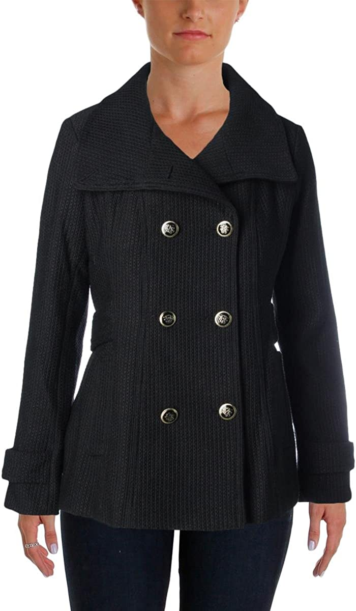 Jessica Simpson Women's Wool-Blend Coat with Gold-Tone Buttons
