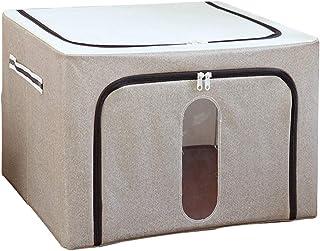 Boîtes de rangement, panier for organisateur de conteneurs empilable et pliable avec fenêtre transparente et poignées de t...