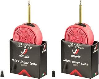 Vittoria Latex Tube 700x25/28 LV48 Presta Valve - PAIR (2 TUBES)