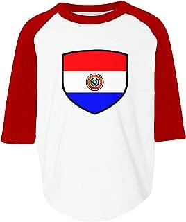 Amdesco Paraguay Shield Paraguayan Flag Toddler Raglan Shirt