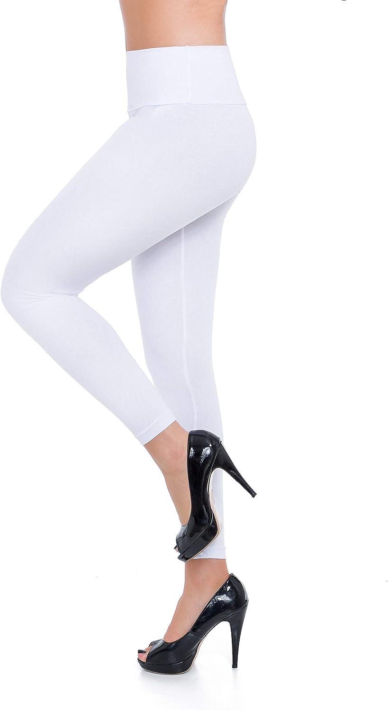 FUTURO FASHION Womens High Waisted Winter Leggings Cotton Plus Size LWPP28