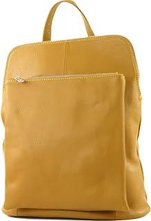modamoda de T141 - ital Damen Rucksacktasche 3in1 aus Leder