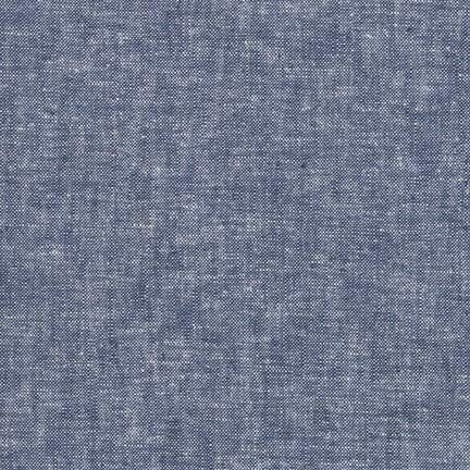 Denim Linen Essex Yarn Dyed, Exxes, Backing, Quilting Fabric, Apparel Fabric, Linen Fabric, Gray Fabric,