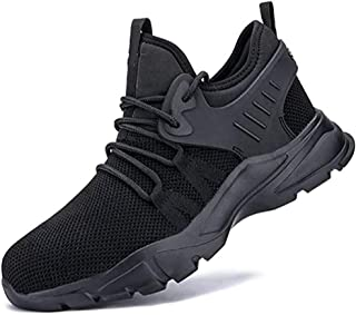 Men's and women's safety shoes and work shoes, lightweight and comfortable, smash-resistant, non-slip, puncture-proof, con...